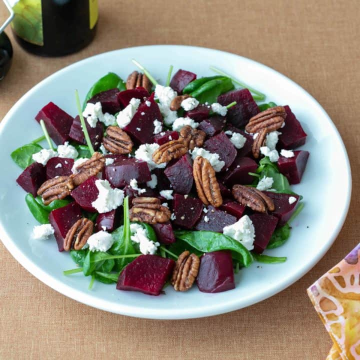 Spinach Beet Goat Cheese Salad