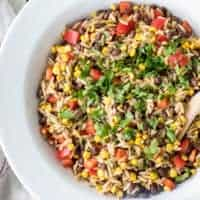 Orzo Pasta Salad with Black Beans and Corn
