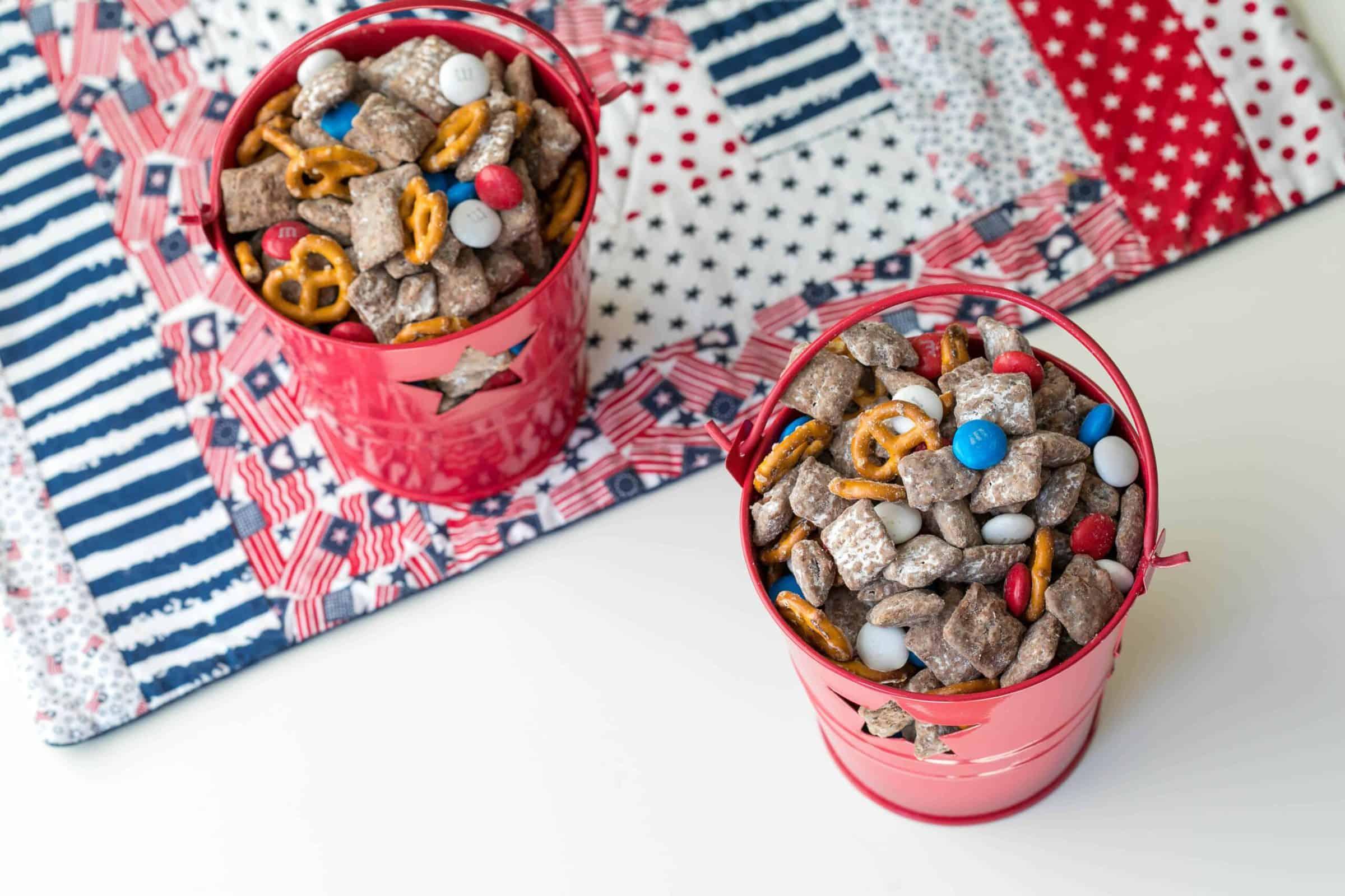 4th Of July Puppy Chow Vanilla Bean Cuisine Recipe