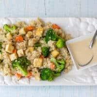 Quinoa Grain Bowl with Sesame-Ginger Dressing