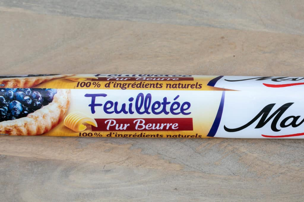 package of pur beurre feuilletée dough (puff pastry dough)
