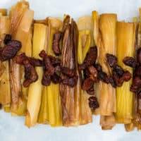 Braised Leeks with Crispy Bacon