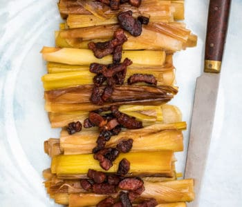 braised leeks with bacon