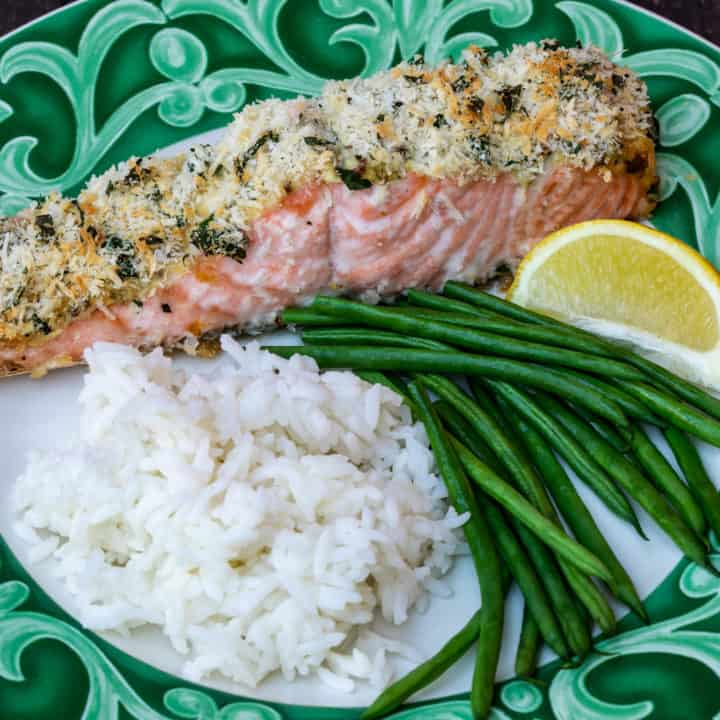 Panko Crusted Salmon Fillets