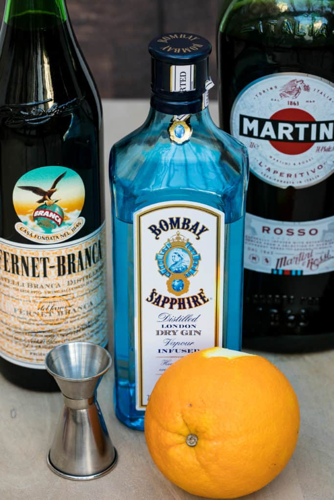 ingredients for hanky panky cocktail