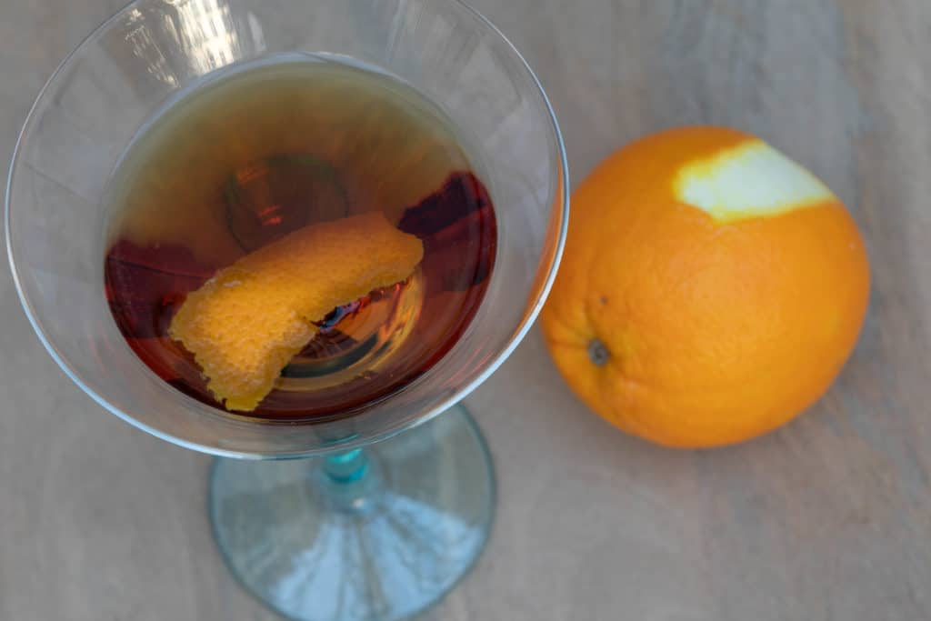 hanky panky cocktail with orange