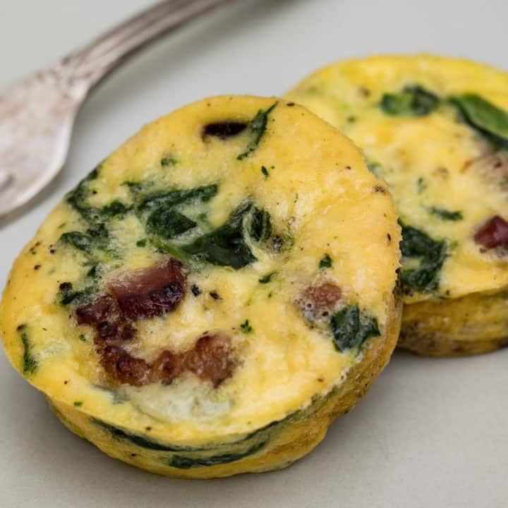 Spinach Bacon Egg Cups