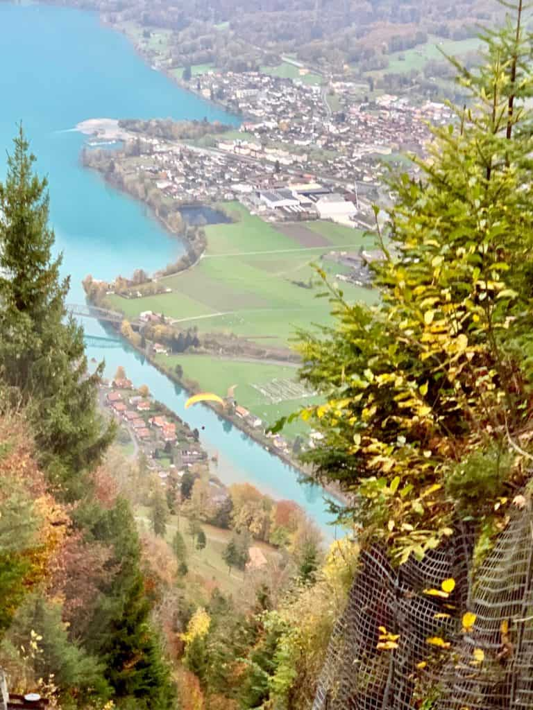 view from Harder Kulm funicular