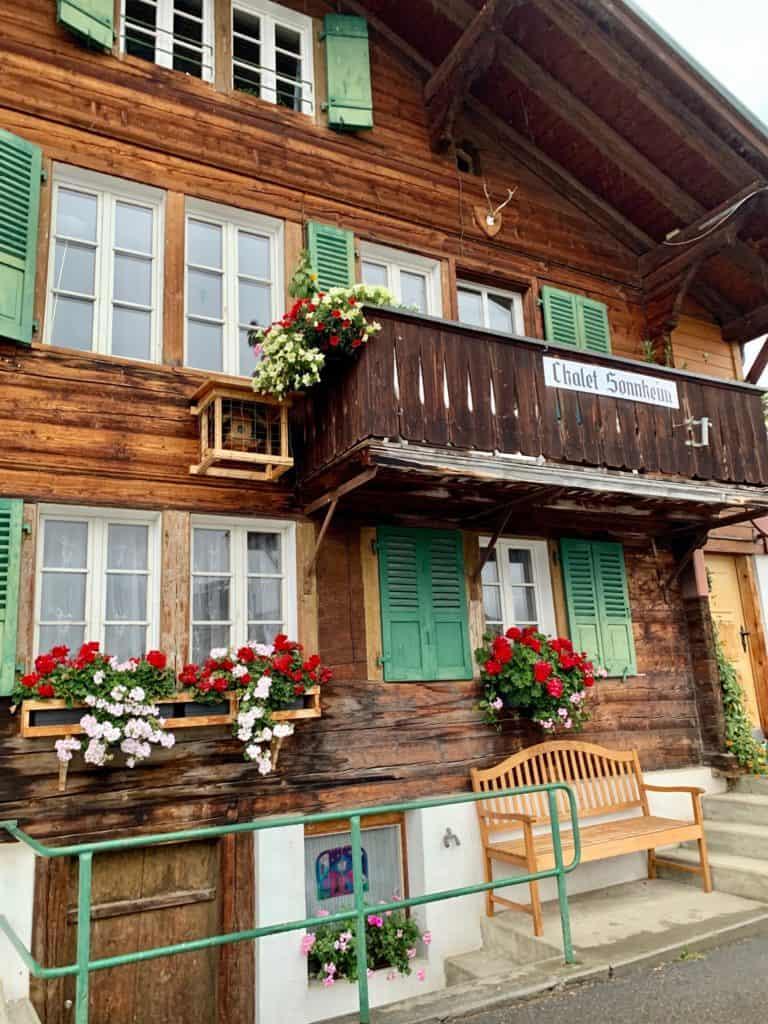 building in town of murren switzerland