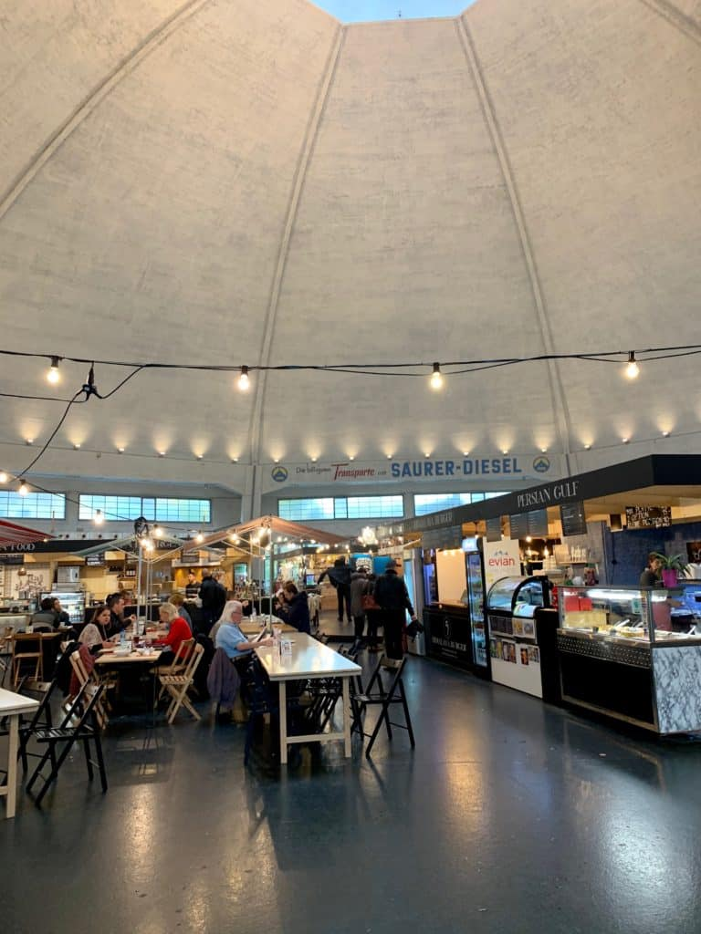 interior of basel markthalle