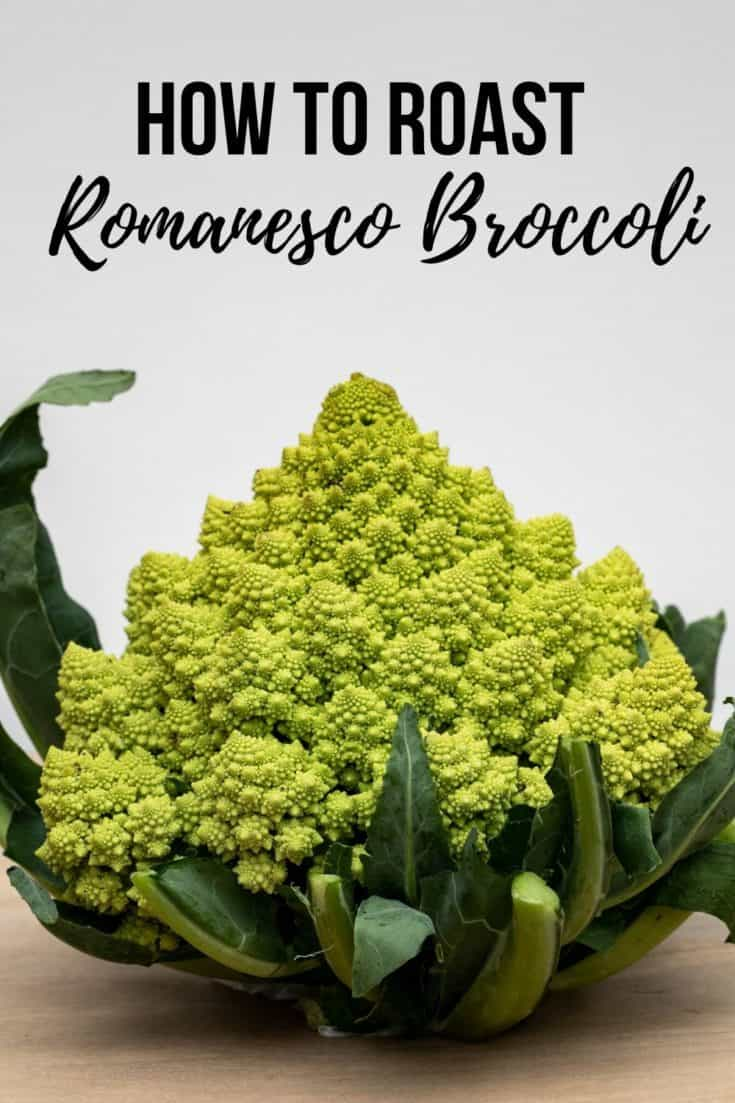 This roasted Romanesco recipe highlights the mild, nutty flavor of Romanesco with spicy chili lime seasoning. Great side dish! #romanesco #sidedish #vegetables