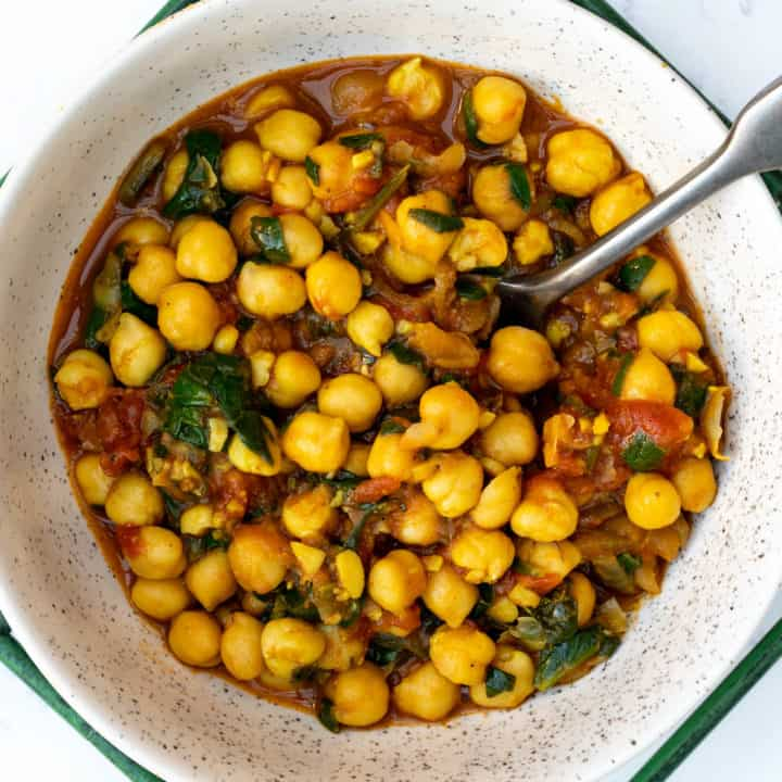 Vegan Chickpea Curry with Spinach