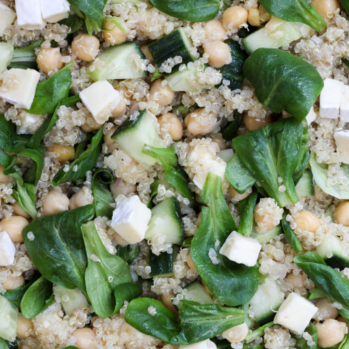Quinoa Chickpea Salad with Lemon Vinaigrette