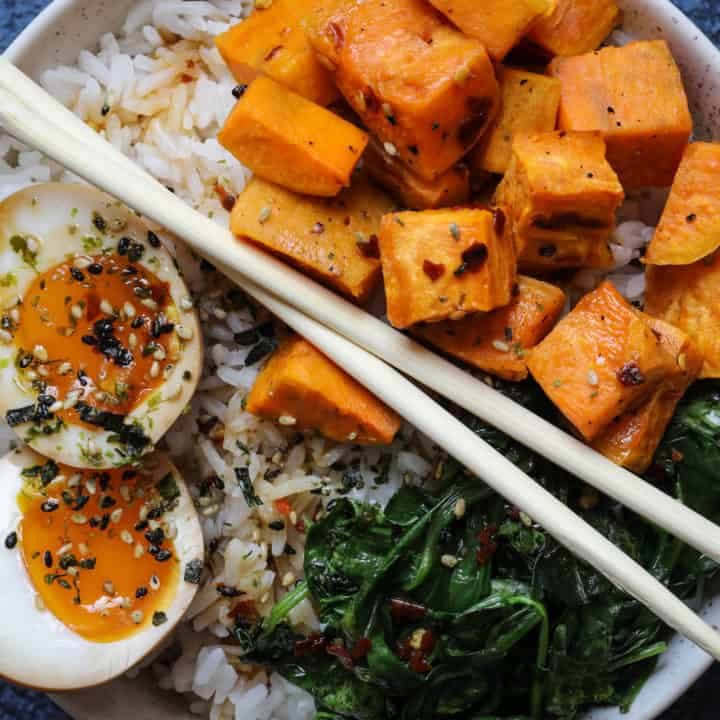 Ramen Egg Rice Bowl