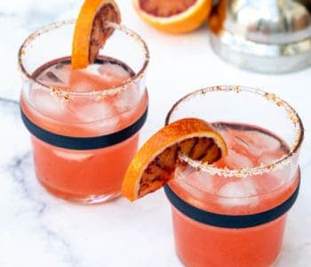 square photo of blood orange margaritas