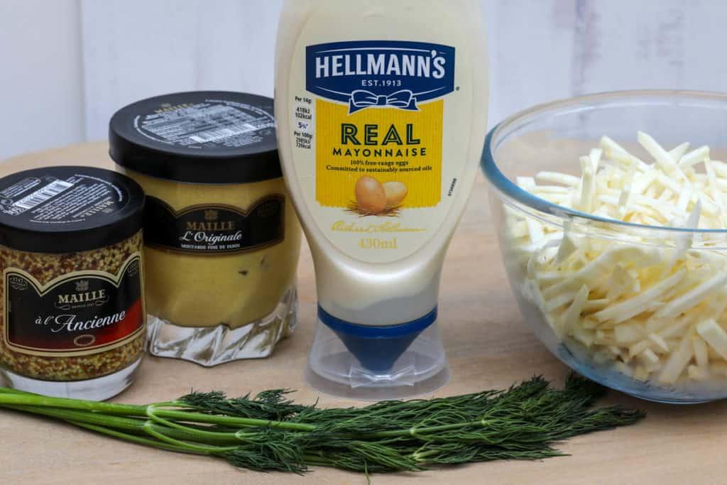 ingredients for celeriac remoulade